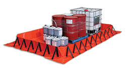 Collapsible bunds for spill control and containment