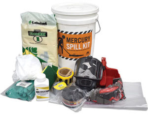 Mercury spill kit with MercAmal