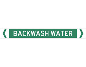 Backwash water pipe marker