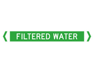 Filtered water pipe marker