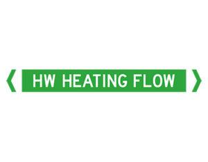 HW heating flow pipe marker
