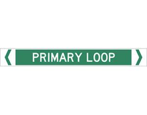 Primary loop pipe marker