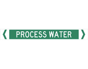 Process water pipe marker