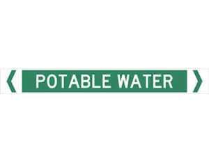 Portable water pipe marker