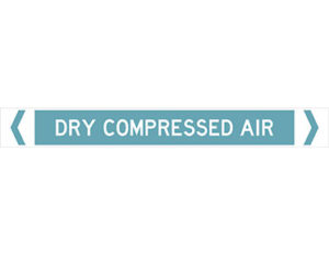 dry compressed air pipe marker