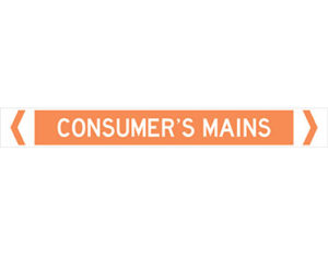 consumer's mains pipe marker