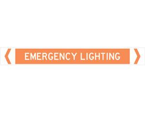 emergency lighting pipe marker
