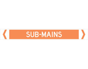 sub-mains pipe marker