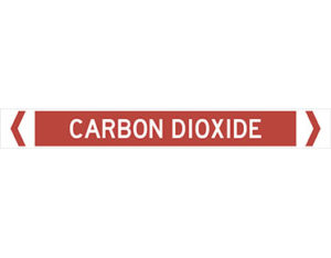 carbon dioxide fire services pipe marker