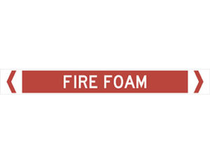 fire foam pipe marker