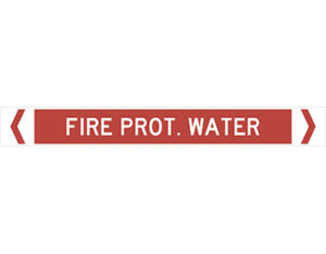 fire prot water pipe marker