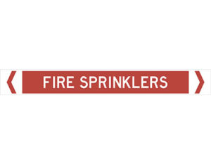 fire sprinklers pipe marker