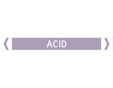 acid pipe marker