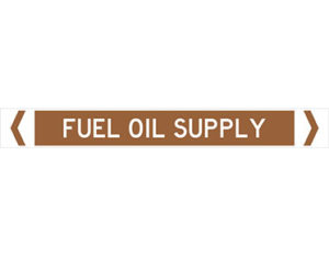 fuel oil supply pipe marker
