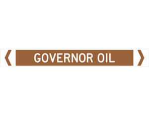 governor oil pipe marker