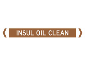insul oil clean pipe marker