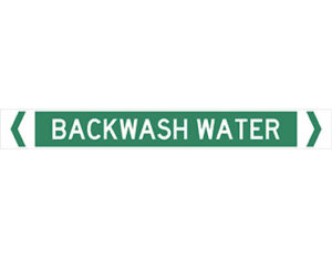 backwash water pipe marker