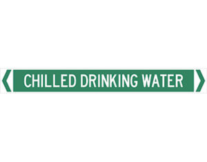 chilled drinking water pipe marker