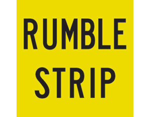 rumble strip sign
