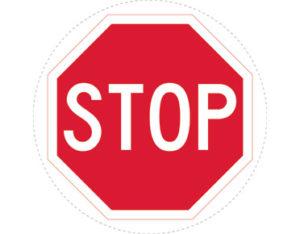 stop sign floor decal