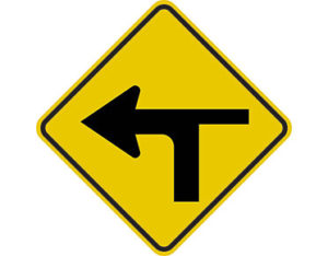 modified t intersection left