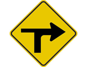 modified t-intersection right