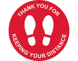Social distancing marker - thank you for keeping your distance