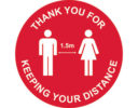 Social distancing floor marker - 1.5m rule