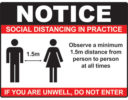 Social distancing sign COVID-19