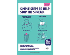 Stop the Spread coronavirus sign