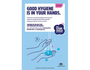 Coronavirus handwashing sign