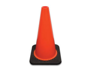 Non reflective 300mm traffic cone