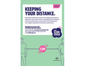 Keeping your distance sign