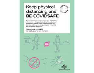 Keep physical distancing sign