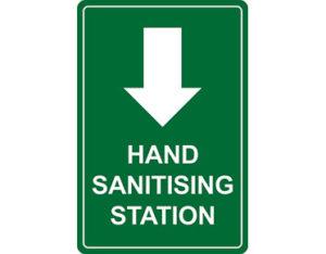 Hand sanitising station sign
