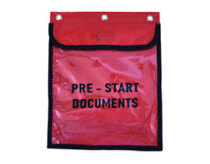 Pre-start document holder