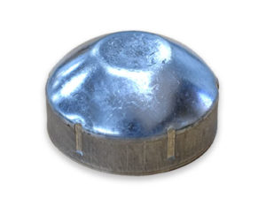 Galvanised post end cap
