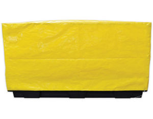 Four drum inline spill pallet cover