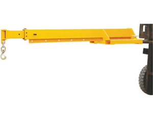 Forklift-mounted telescopic jib