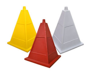 Four-sided pyramid cones