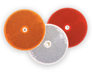 Plastic delineators - red, white and amber