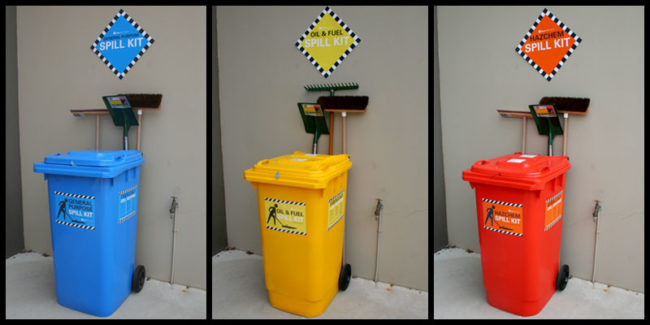 Spill station - individual bins