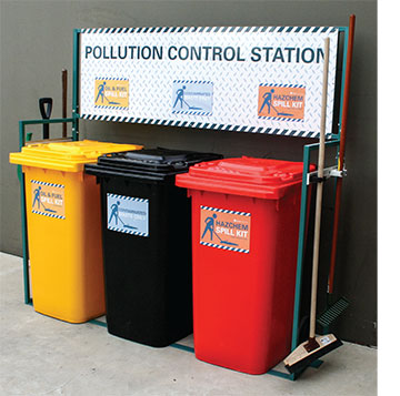 Spill station - 3x spill kits