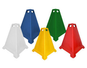 Poly pyramid cones - three sided