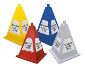 Four sided pyramid cones