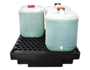 Low profile spill pallet